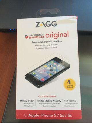 Protector de pantalla marca ZAGG iPhone 5,5s o 5c