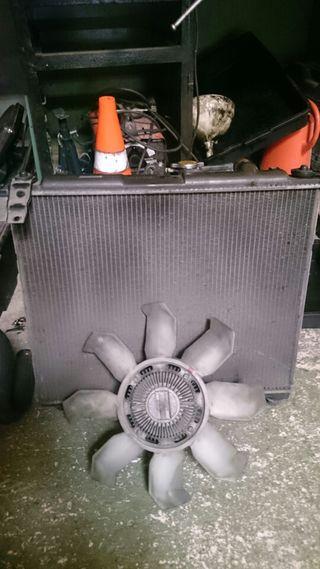 Radiador, ventilador y bomba de agua