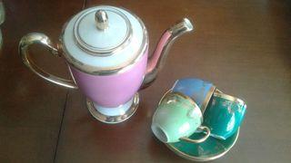 Juego cafe porcelana fina