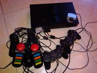 Play station 2 con mandos buzz 16 juegos camara pl