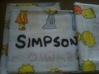Juego sabanas 3 piezas los Simpsons cama 90cm.