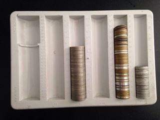 contador monedas años 60 vintage
