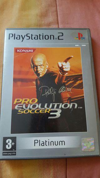 Juego PS2, PRO Evolution Soccer 3..