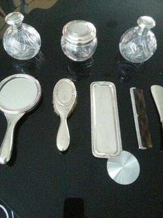 Espejo tocador plata cristal