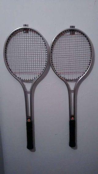 Raquetas tenis aluminio años 80-90
