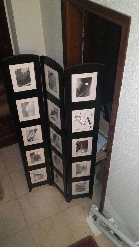 Biombo separador con fotos