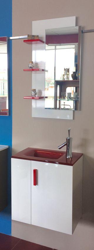 Mueble de baño Top Rojo 50x30