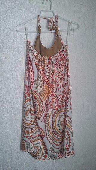 Vestido mosaico de tienda Bershka