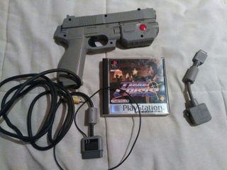 Time Crisis + pistola PlayStation 1