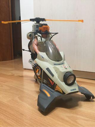 Action Man helicoptero con luz