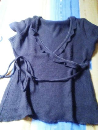 Camiseta marron lana