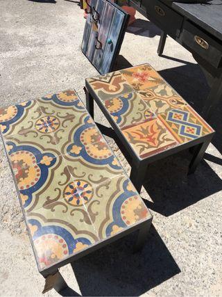 Mesa de Mosaico Hidraulico Antiguo