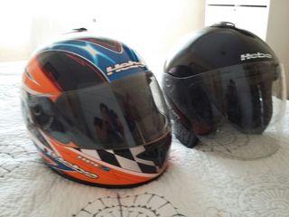 2 cascos de moto hebo