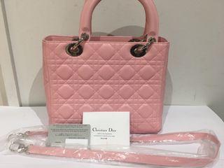 Bolso lady dior piel rosa
