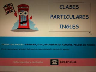 Clases particulares de Ingles.