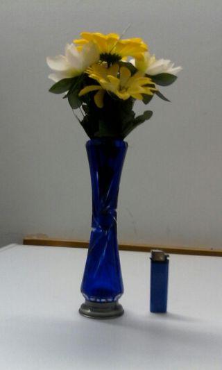 Florero violetero cristal tallado