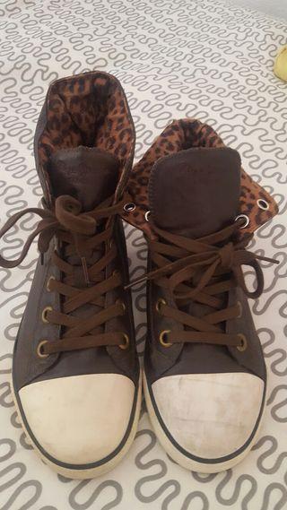 Zapatillas Pepe jeans converse leopardo (T36)