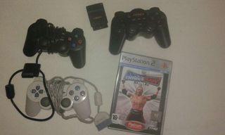 3 mandos y juego para PS2