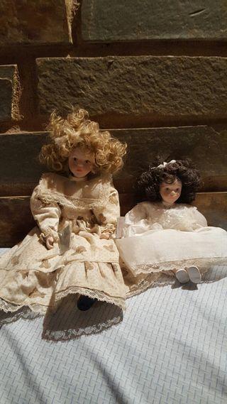 Muñecas de porcelanas antiguas