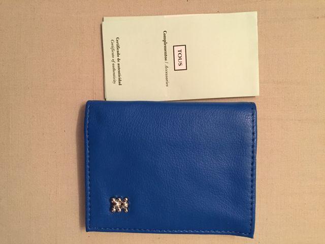 Monedero de piel Tous azul original nuevo