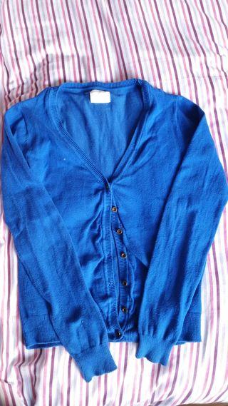 Cardigan azul talla 38