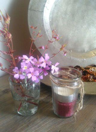 1+1 Vasos antiguos de vidrio prensado.
