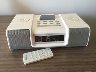 Base iHome, radio y entrada mini-jack