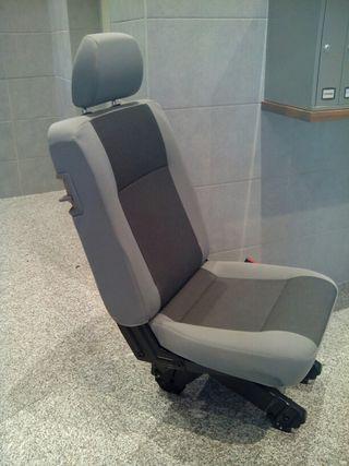 Fundas para asientos ya referencias set qz VW t5 Caravelle imitación cuero negro