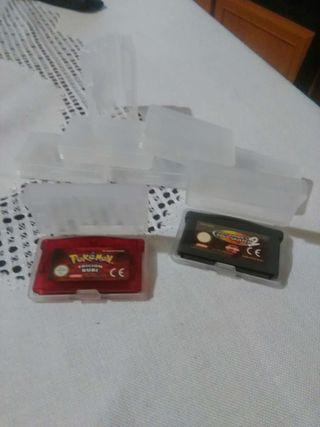 Cajas para juegos gameboy advance / advance sp