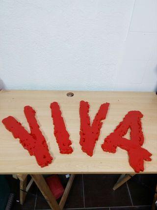 Letrero de las letras de VIVA.