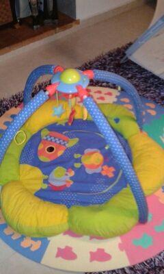 Centro actividades bebé + alfombra números redonda