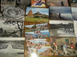 21 postales antiguas años 50