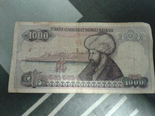 Billete 1000 liras turcas