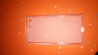 Funda silicona transparente para Bq M5