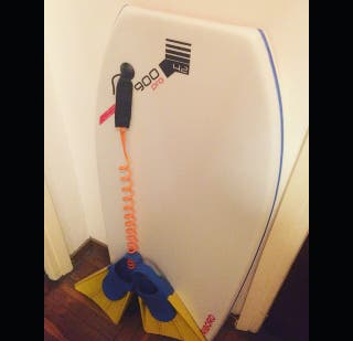 Tabla Bodyboard completa + Leash + Plug + aletas