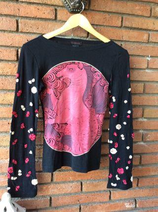 Camiseta Mujer Custo Barcelona Talla 2 S 38