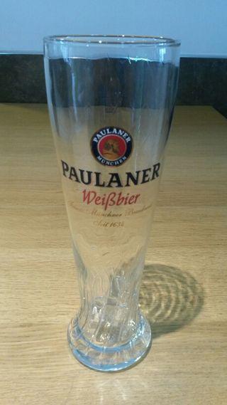 Vaso cerveza paulaner