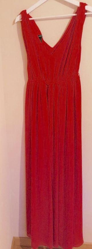 Vestido largo rojo talla S