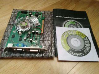 Targeta video nividia vga 256mb con manual y driver