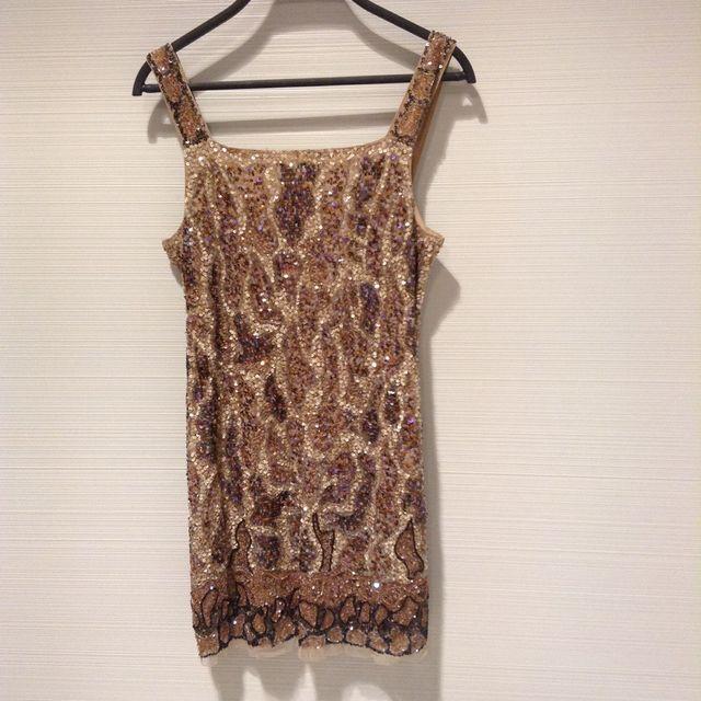 Vestido Pedreria Zara Woman