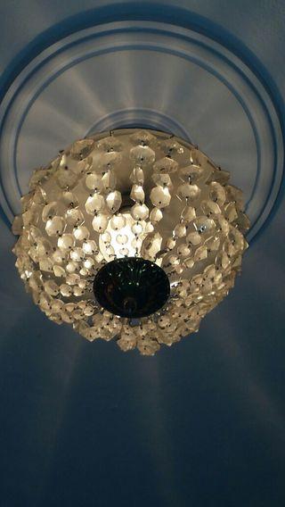 Lámpara de techo de cristal vintage