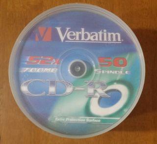 50 CD-R Verbatim nuevos.