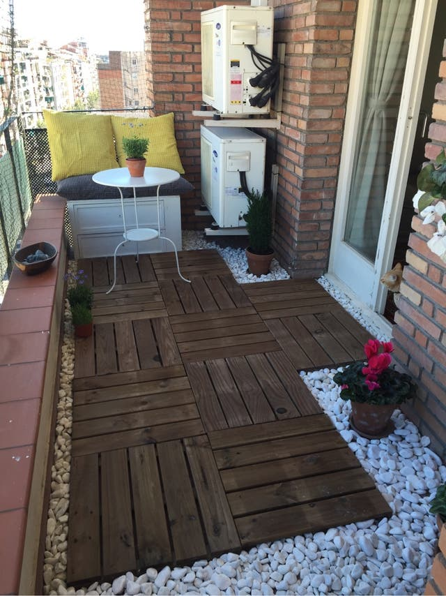 Baldosa para exterior deco terraza de segunda mano por 80 en barcelona en wallapop - Baldosas terraza exterior ...