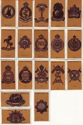 1917 COLECCION COMPLETA DE 25 CROMOS MILITARES