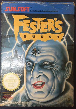 Juego Festers Quest Nintendo NES COMPLETO incluye mapa