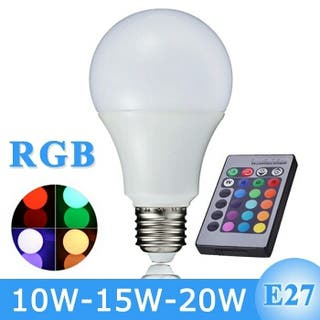 Lámpara colores c/mando a distancia 15w.