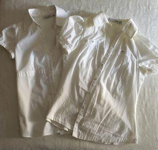 2x1 blusas blancas Zara y Bsk
