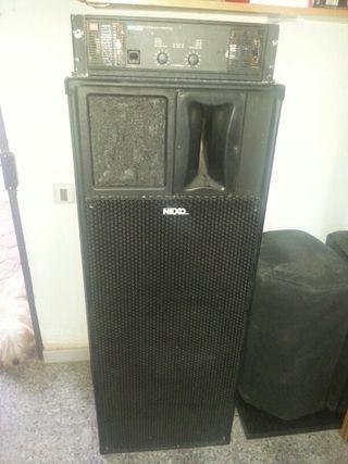 equipo de sonido altavoces nexo