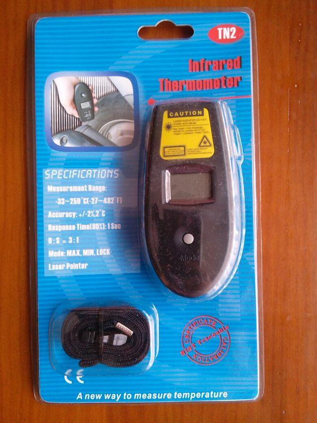 Termómetro infrarrojos, laser.
