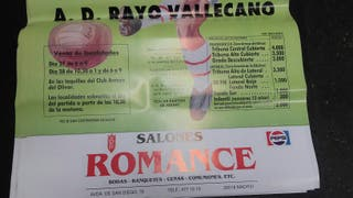 Posters antiguos del rayo vallecano